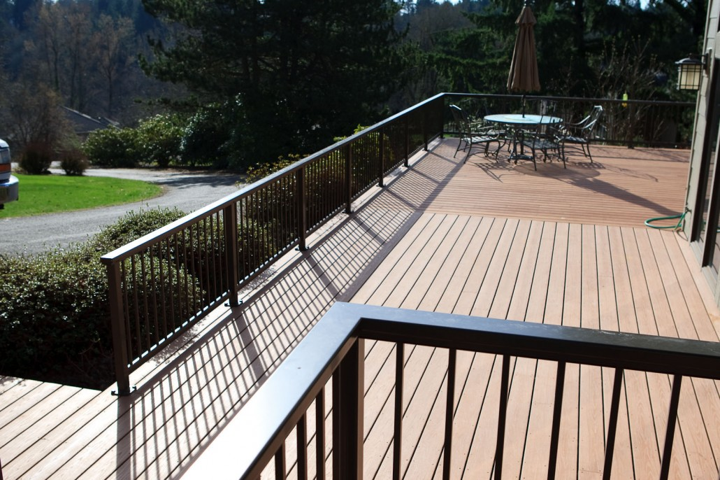 Azek Decking In Fawn And Alumarail In Brown Mba Deck