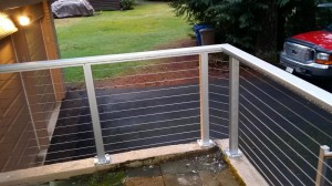Anodized Aluminum Porch Railing With Stainless Steel