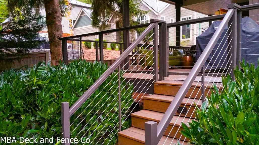 steel cable railing. New Railing Transforms A Older Cedar Deck Steel Cable F